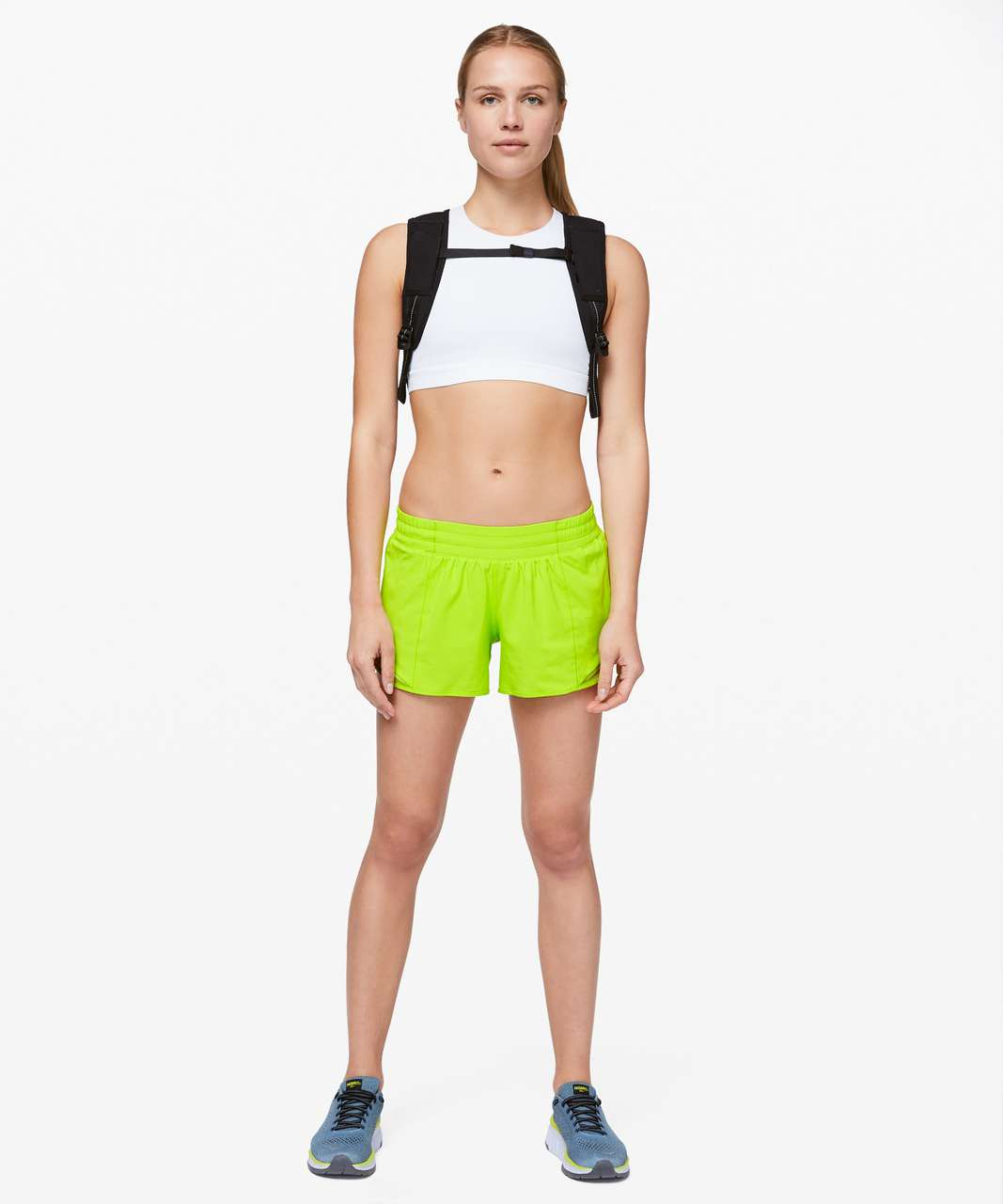 "Lululemon Hotty Hot Short II *Long 4"" - Lime Pop"