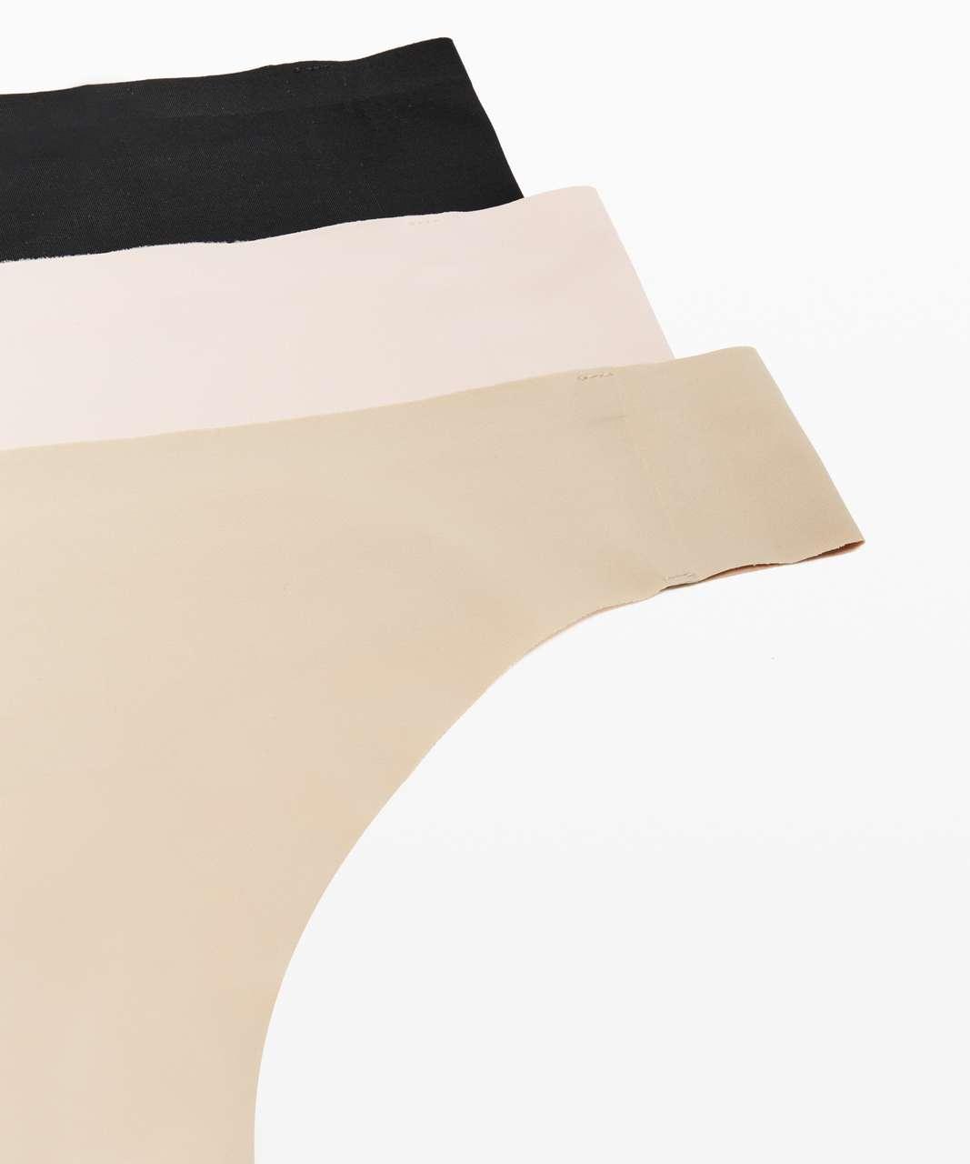 Lululemon Namastay Put Thong 3 Pack - Pink Bliss / Crepe / Black