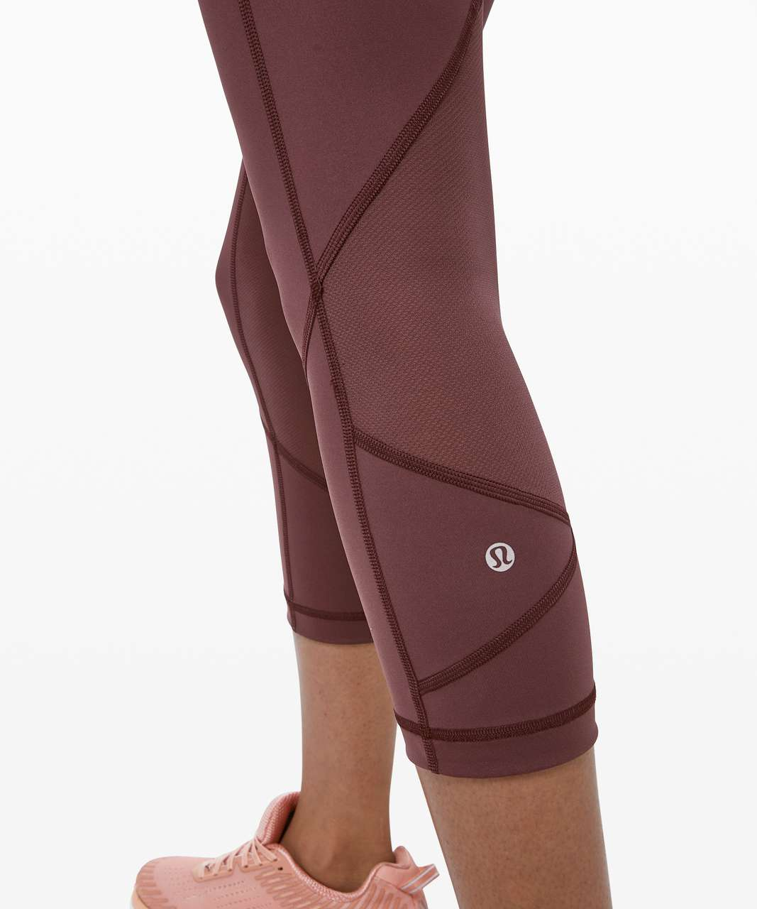 "Lululemon Pace Rival Crop *22"" - Cherry Cola"
