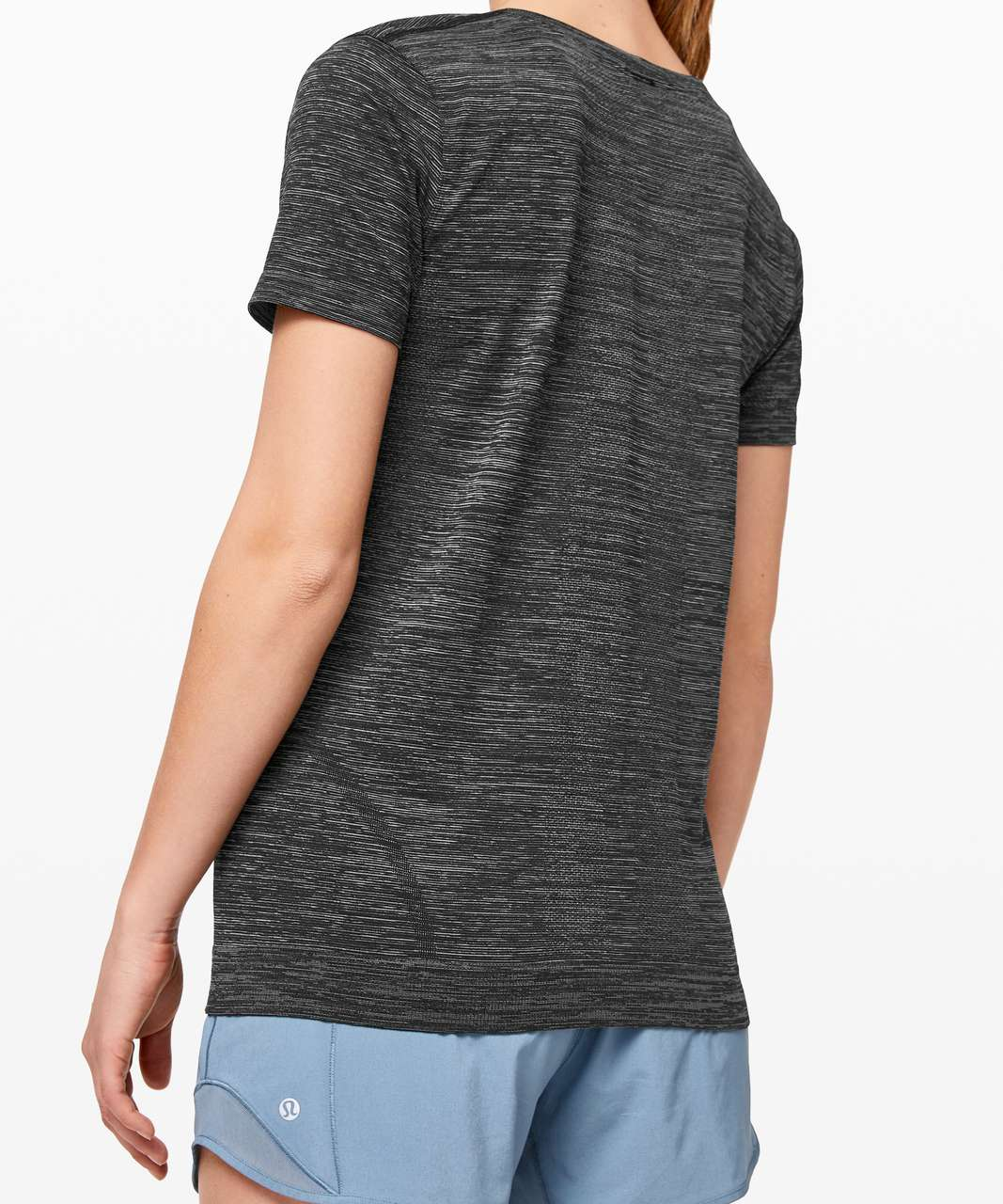 Lululemon Swiftly Tech Short Sleeve (Breeze) *Relaxed Fit - Black / White / Black