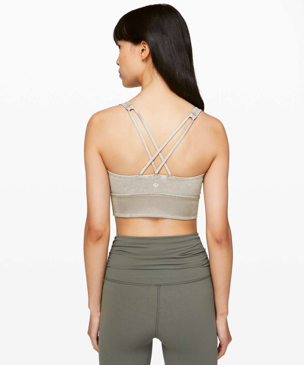 Lululemon Free To Be Bra *Long Line Rib Snow Wash - Washed French Clay