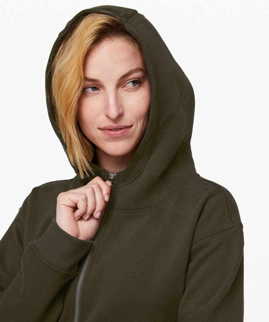 Lululemon All Yours Zip Hoodie - Dark Olive