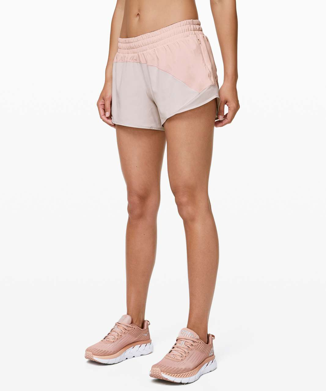 Lululemon Hotty Hot Short *Asym - Butter Pink / Light Chrome / Light Chrome