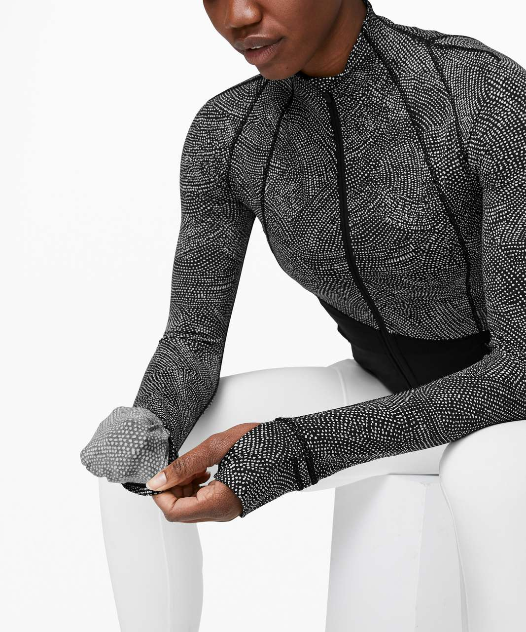 Lululemon Define Jacket *Asym - Free Spirit Ice Grey Black / Black