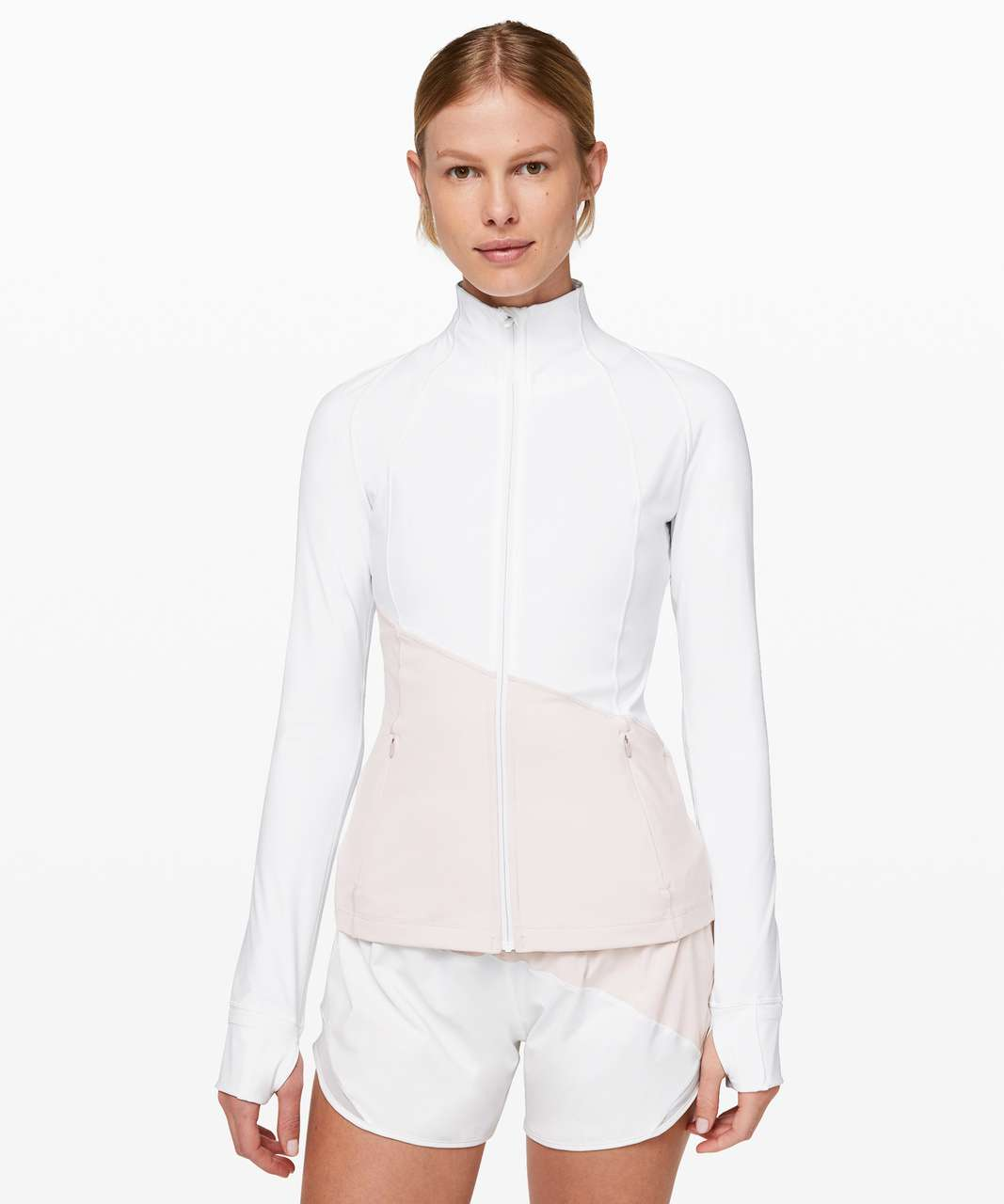 Lululemon Define Jacket *Asym - White / Light Chrome