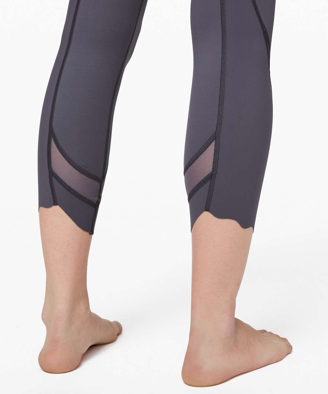 "Lululemon Wunder Under Crop II *Roll Down Scallop Full-On Luxtreme 24"" - Moonwalk"