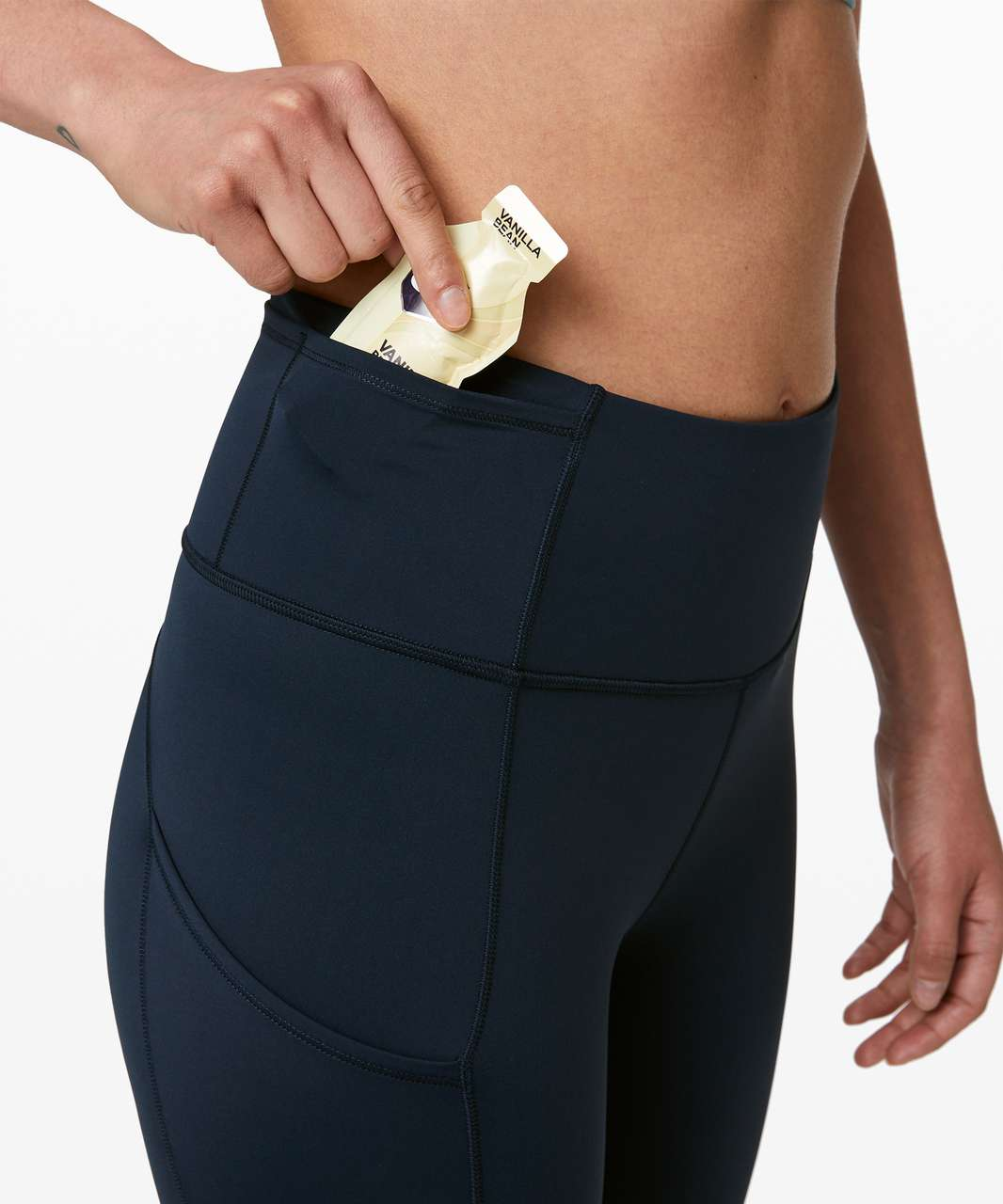 """Lululemon Fast and Free High-Rise Crop 23"""" - True Navy"""