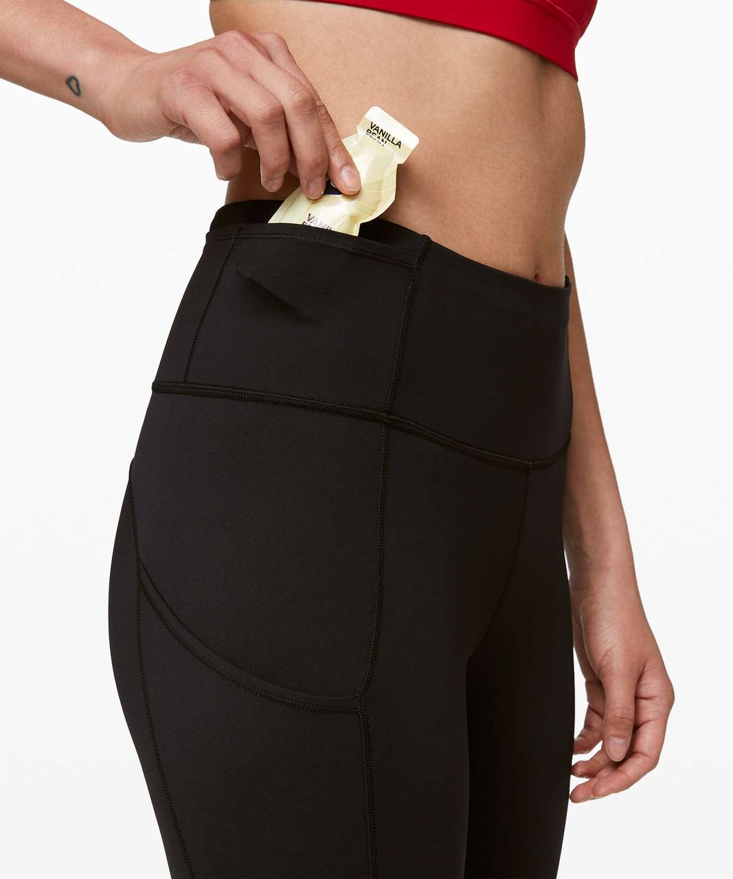 """Lululemon Fast and Free High-Rise Crop 23"""" - Black"""