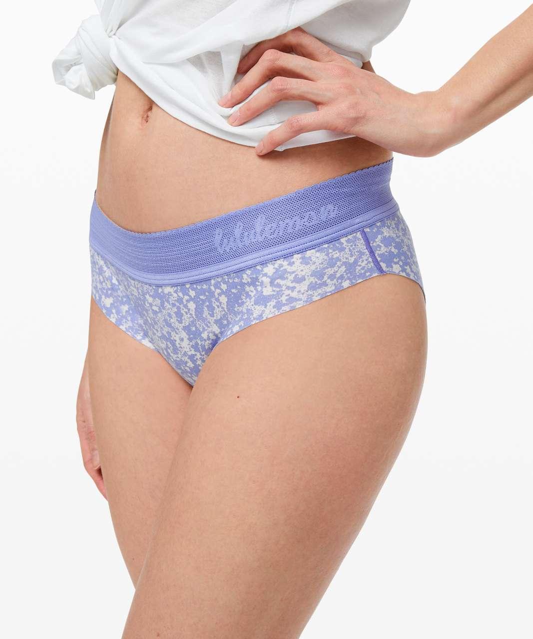 Lululemon Ever Essentials Bikini - Bloom Spray Light Chrome Hydrangea Blue / Hydrangea Blue