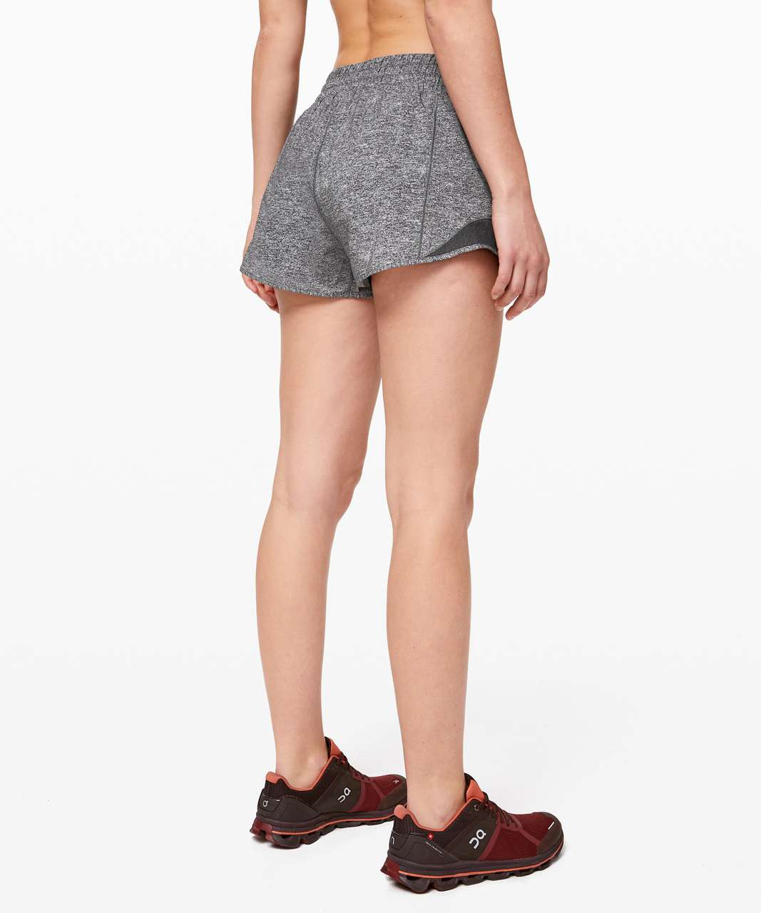 "Lululemon Hotty Hot Short *High-Rise 2.5"" - Heather Lux Multi Black / Heathered Black"