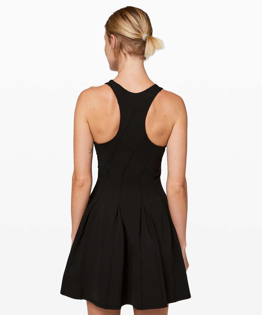 Lululemon Court Crush Tennis Dress Black Lulu Fanatics