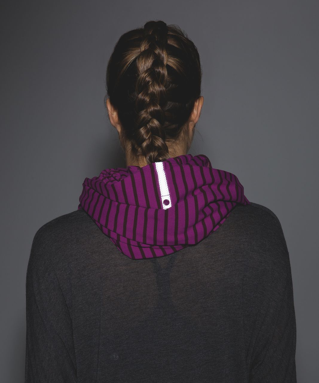 Lululemon Vinyasa Scarf - Deenie Stripe Regal Plum Bordeaux Drama