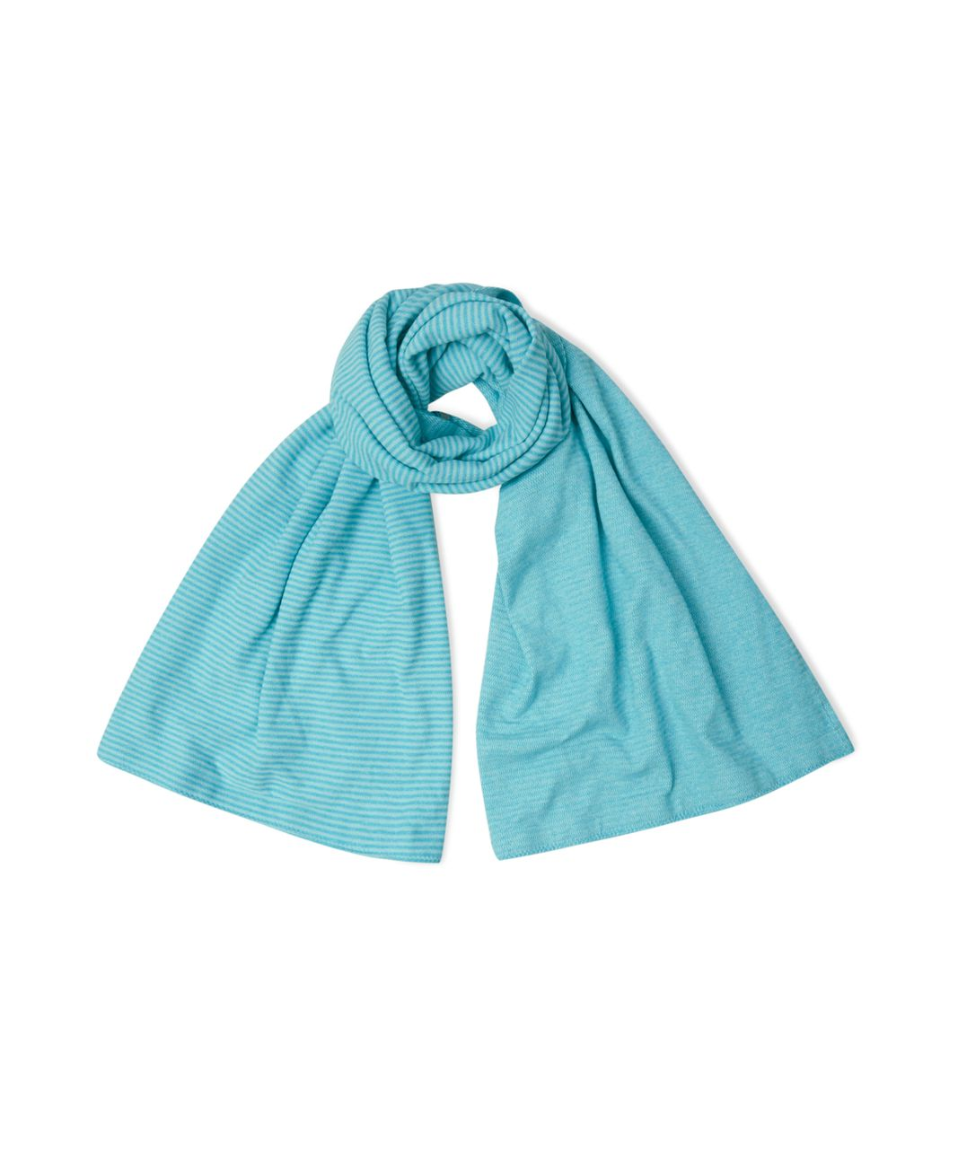 Lululemon Vinyasa Scarf - Mini Check Pique Aquamarine Heathered Peacock Blue