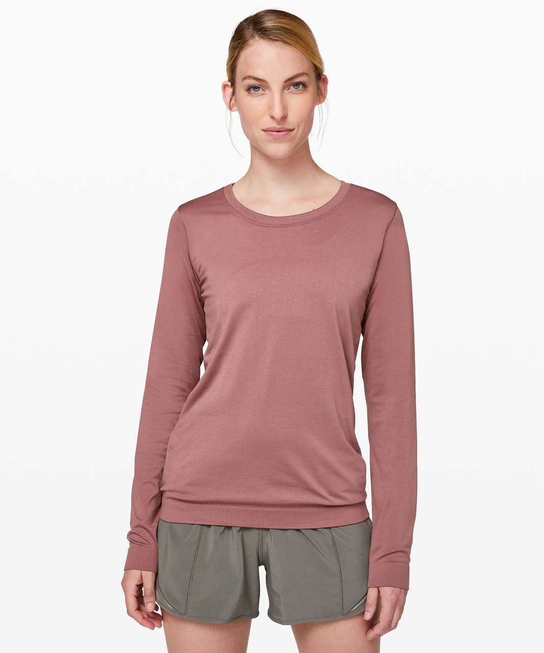 Lululemon Swiftly Tech Long Sleeve (Breeze) *Relaxed Fit - Red Dust / Red Dust