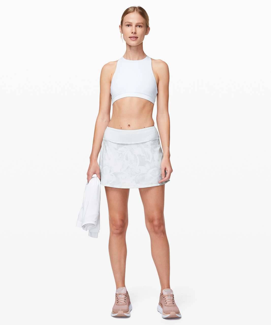 "Lululemon Pace Rival Skirt (Tall) *No Panels 15"" - Mini Tropical Shadow Starlight Multi / Alpine White"