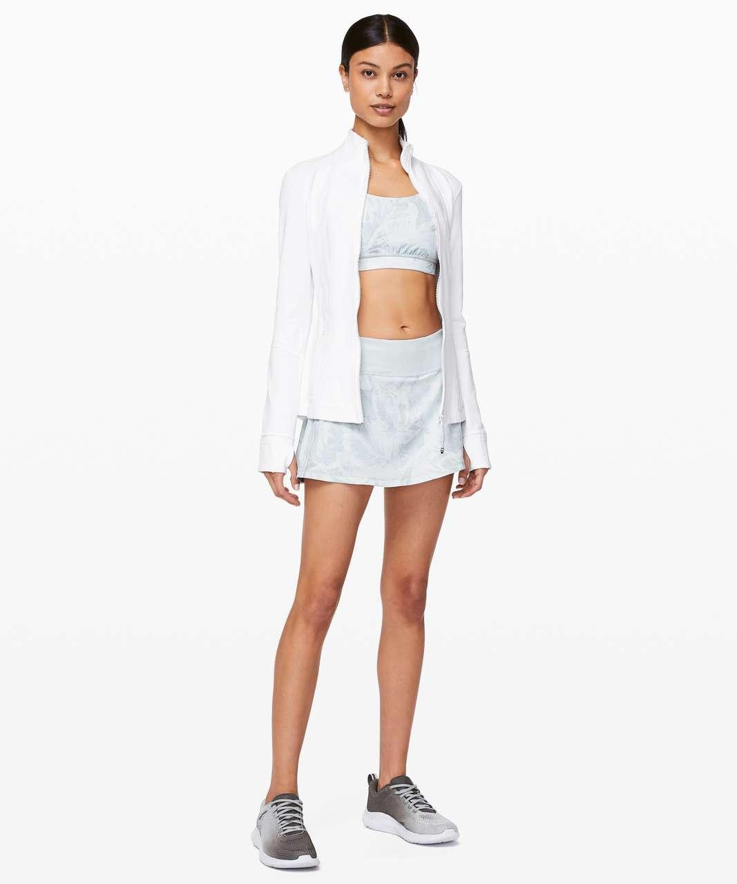 "Lululemon Pace Rival Skirt (Regular) *No Panels 13"" - Mini Tropical Shadow Starlight Multi / Alpine White"