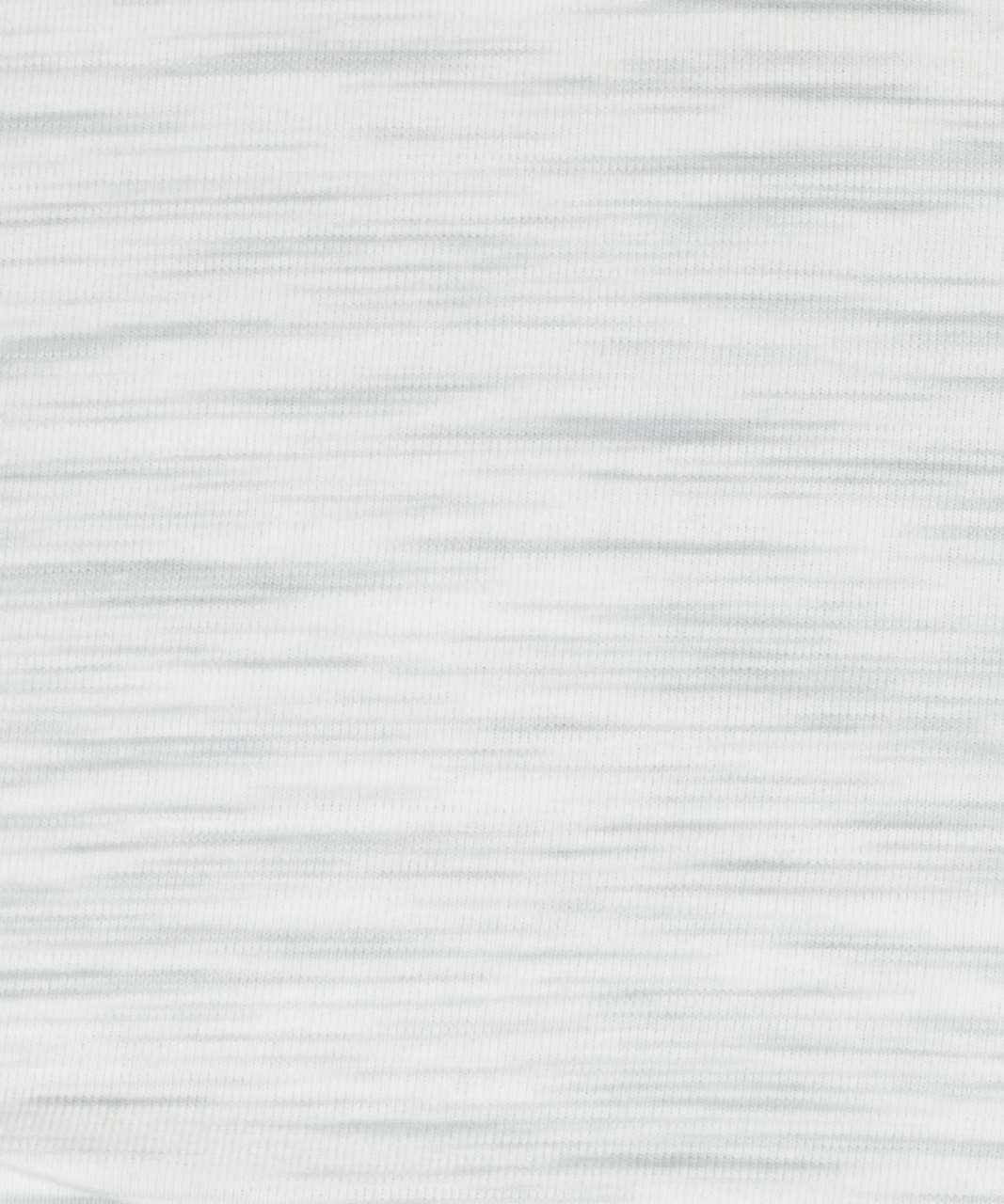 Lululemon Back In Action Long Sleeve - 3 Colour Space Dye Ice Grey Alpine White