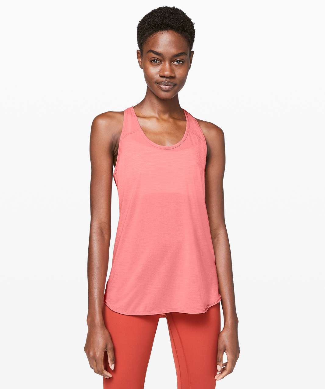 Lululemon Essential Tank - Heathered Light Coral