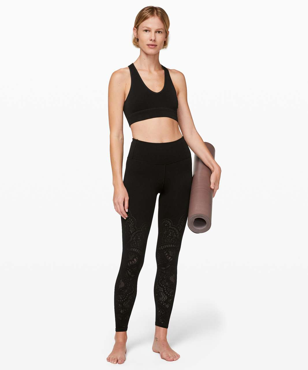 Lululemon Reveal Bra *Zen Expression - Black