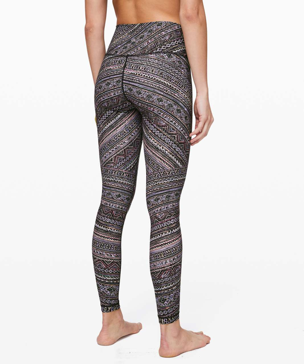 "Lululemon Wunder Under High-Rise Tight *Engineered Full-On Luxtreme 28"" - Tribal Pace Wunder Under White Black"