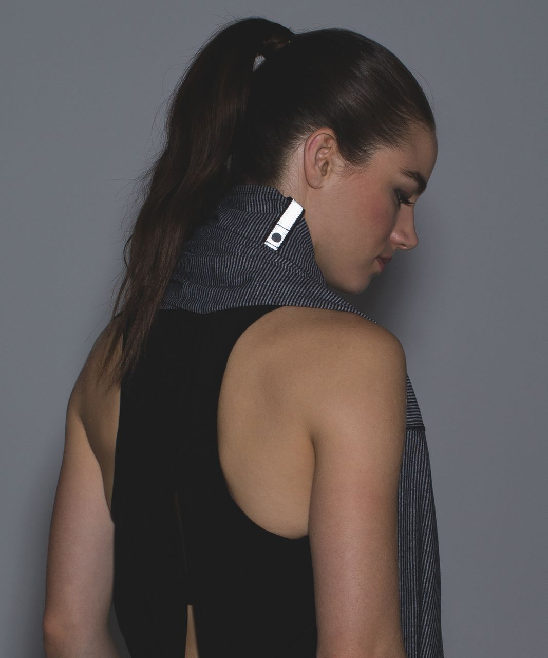 Lululemon Vinyasa Scarf - Tonka Stripe Heathered Slate Black