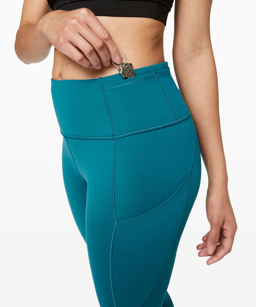 "Lululemon Fast and Free Tight II 25"" *Non-Reflective Nulux - Cyprus"