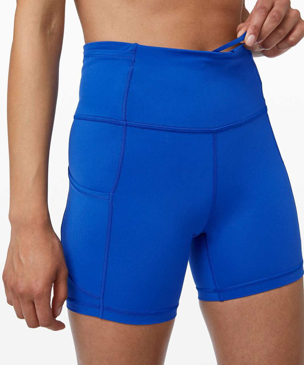 "Lululemon Fast and Free Short 6"" *Non-Reflective - Jet Stream"