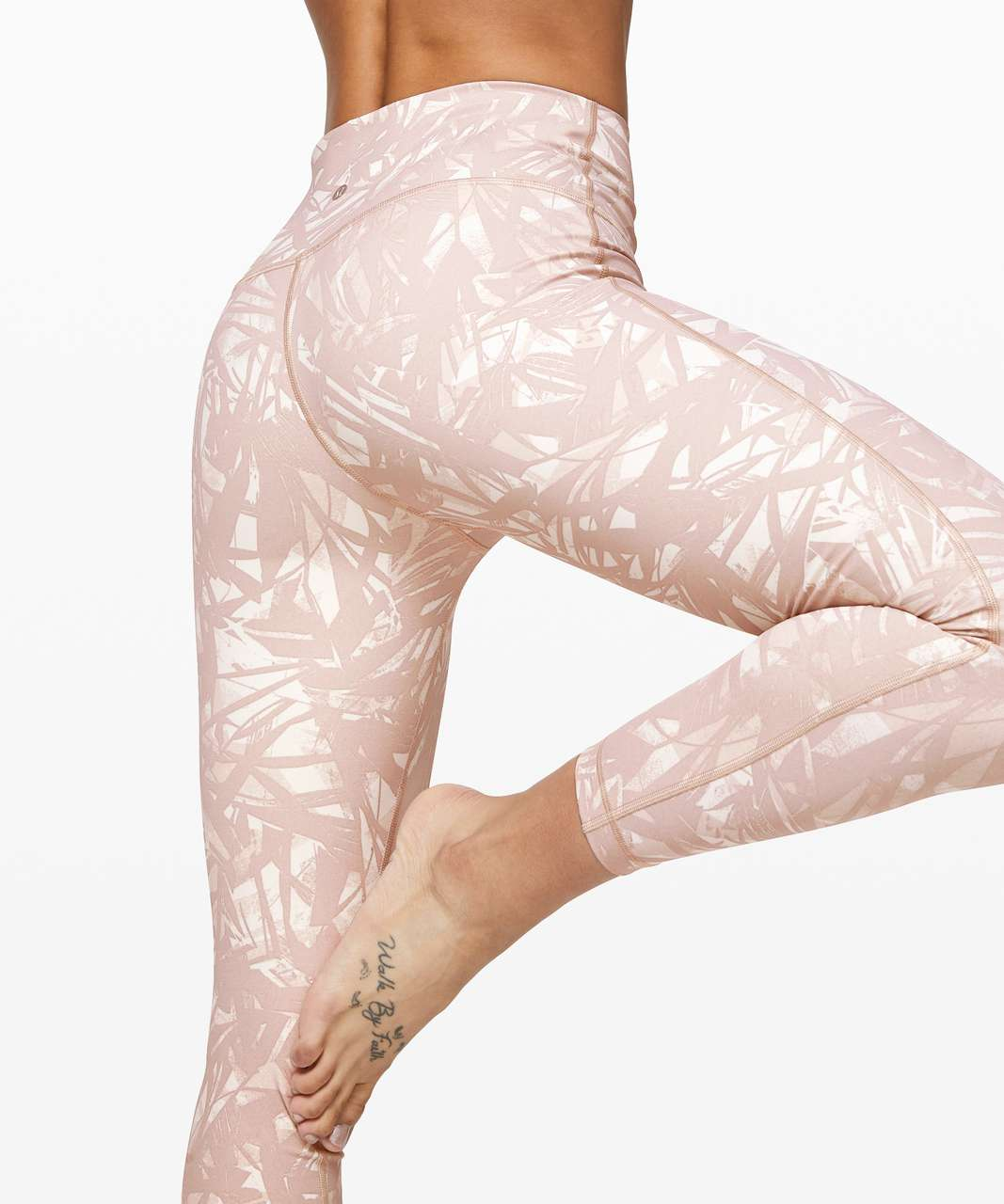 "Lululemon Wunder Under High-Rise Tight 25"" *Full-On Luxtreme - Shadow Leaf Light Ivory Muse"