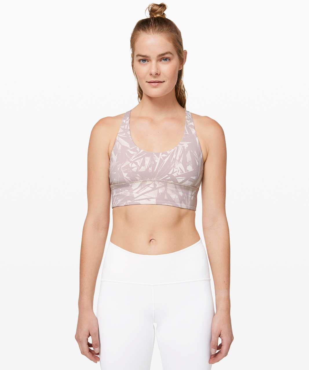Lululemon Free To Be Moved Bra - Shadow Leaf Light Ivory Muse / Muse