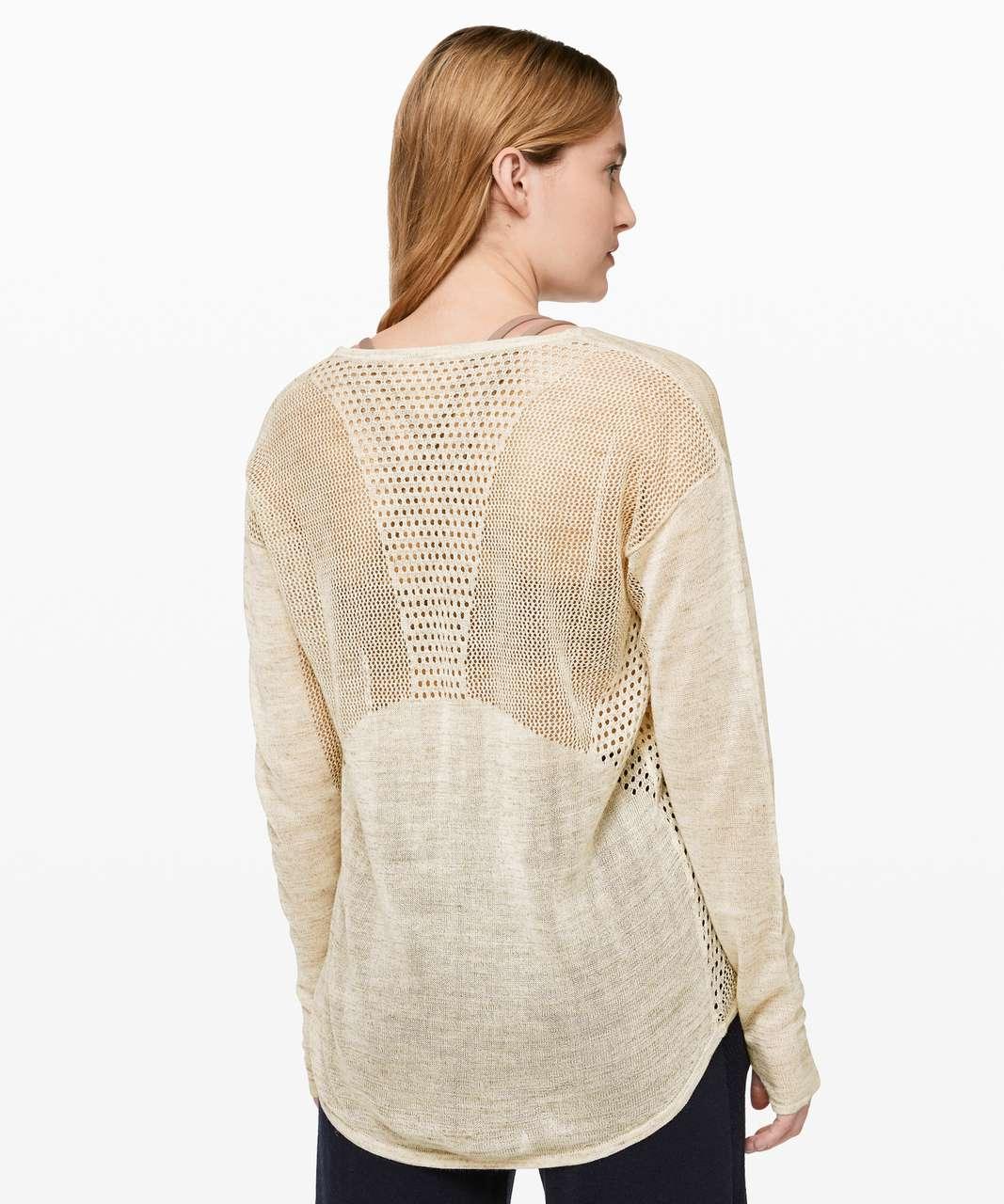 Lululemon Still Movement Sweater *Linen - Heathered Muslin