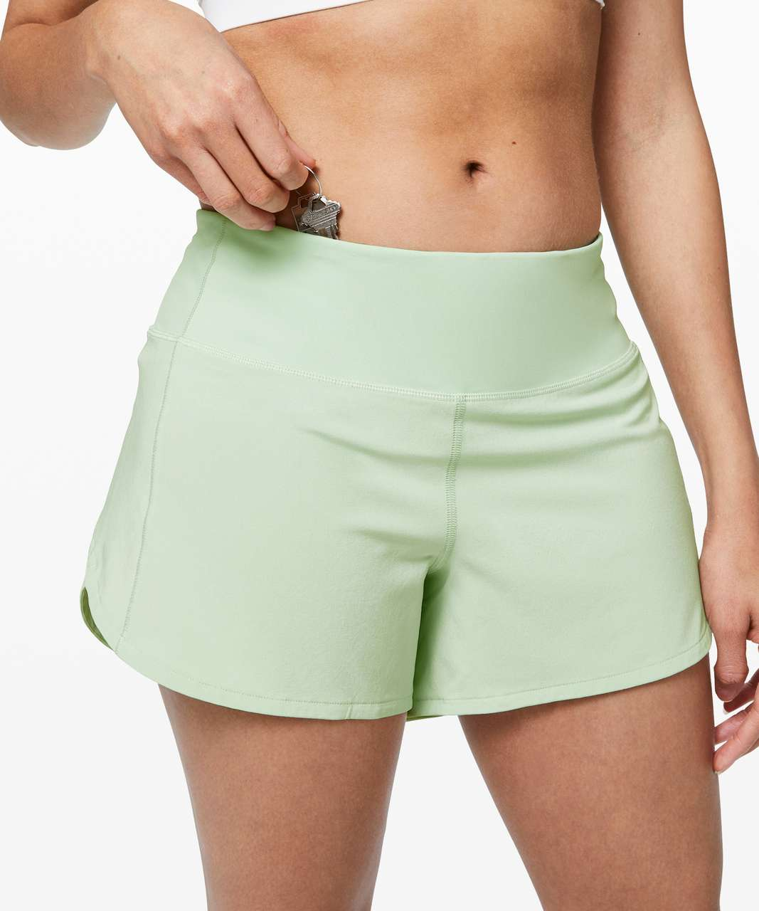 "Lululemon Speed Up Short Long *4"" Updated Fit - Mystic Mint"