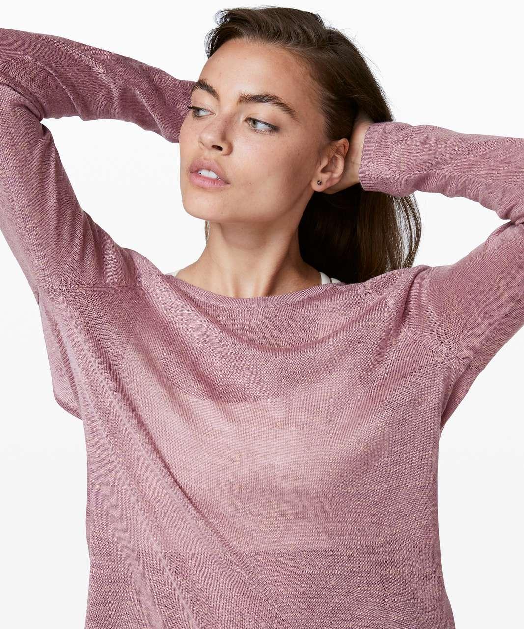 Lululemon Mix and Mingle Pullover - Heathered Vintage Mauve