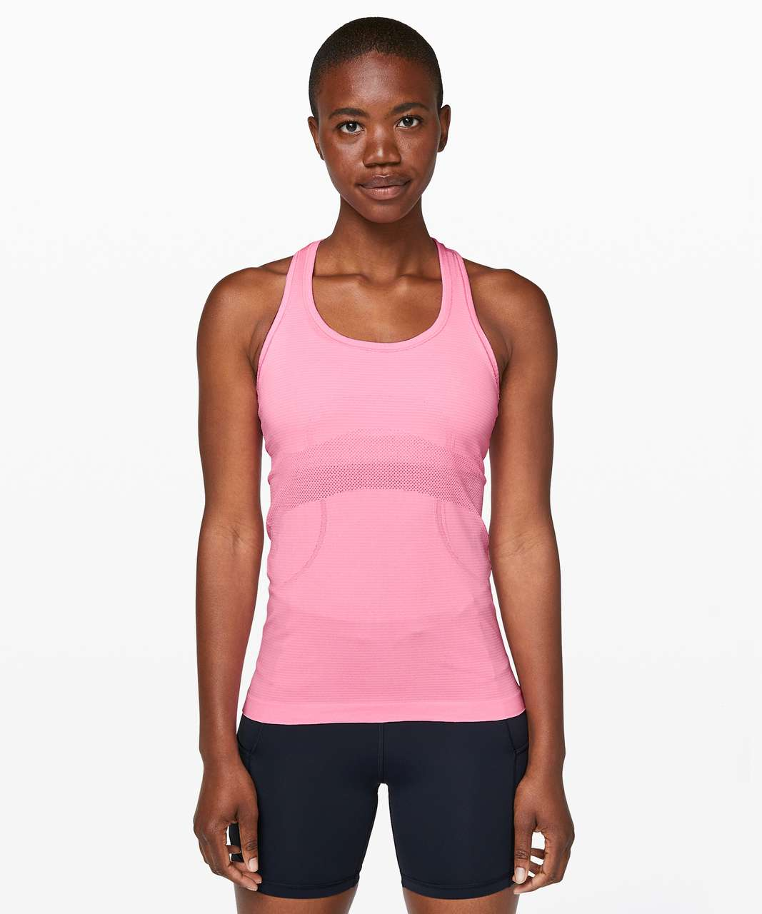 Lululemon Swiftly Tech Racerback - Pink Shell / White