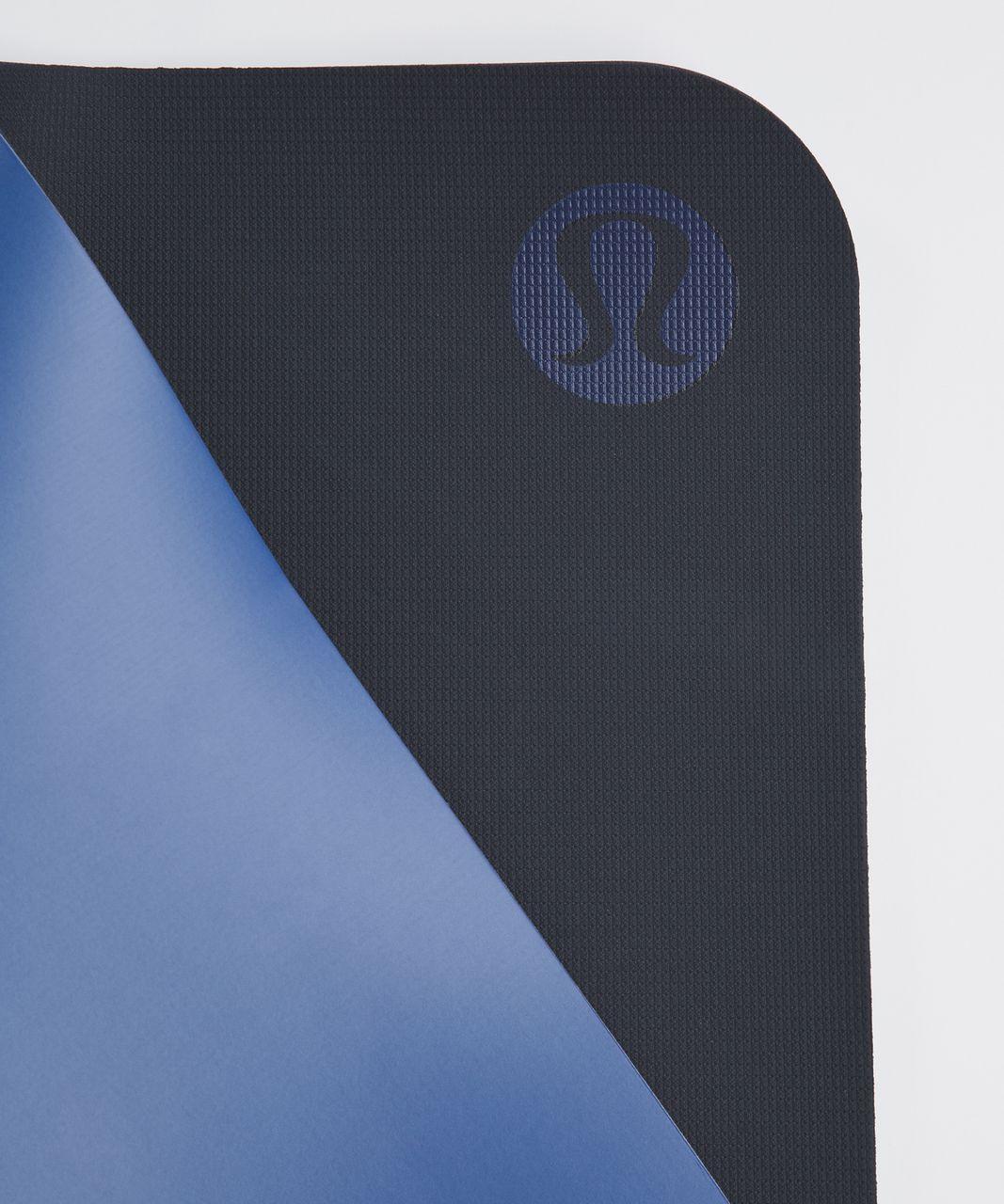 Lululemon The Reversible Mat 5mm - Sprinkler / Naval Blue