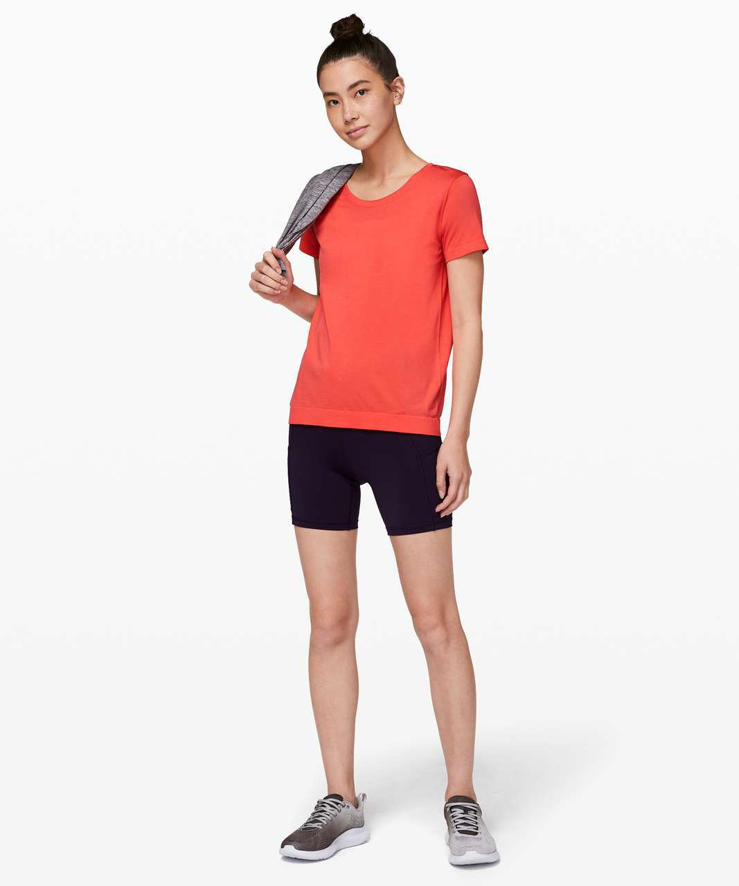 Lululemon Swiftly Tech Short Sleeve (Breeze) *Relaxed Fit - Hot Sunset / Hot Sunset