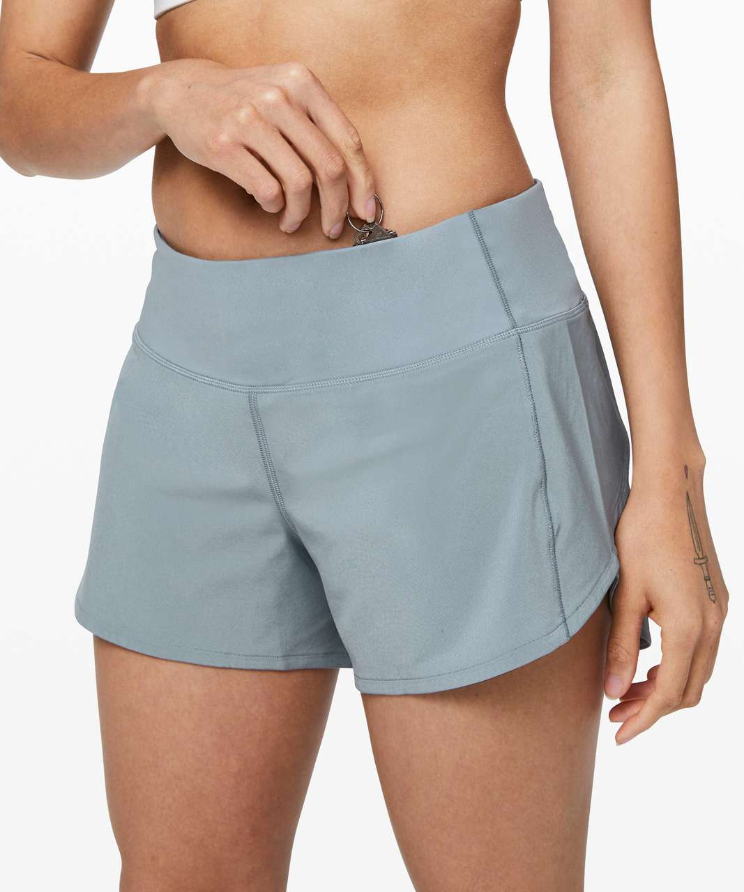 """Lululemon Speed Up Short Long *4"""" Updated Fit - Chambray"""