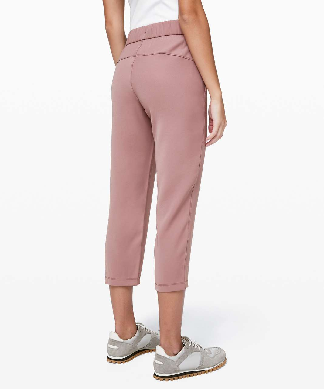 """Lululemon On the Fly Crop *Woven 23"""" - Red Dust"""