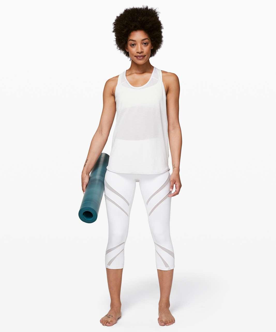 Lululemon Essential Tank *Scallop Texture - Heathered White