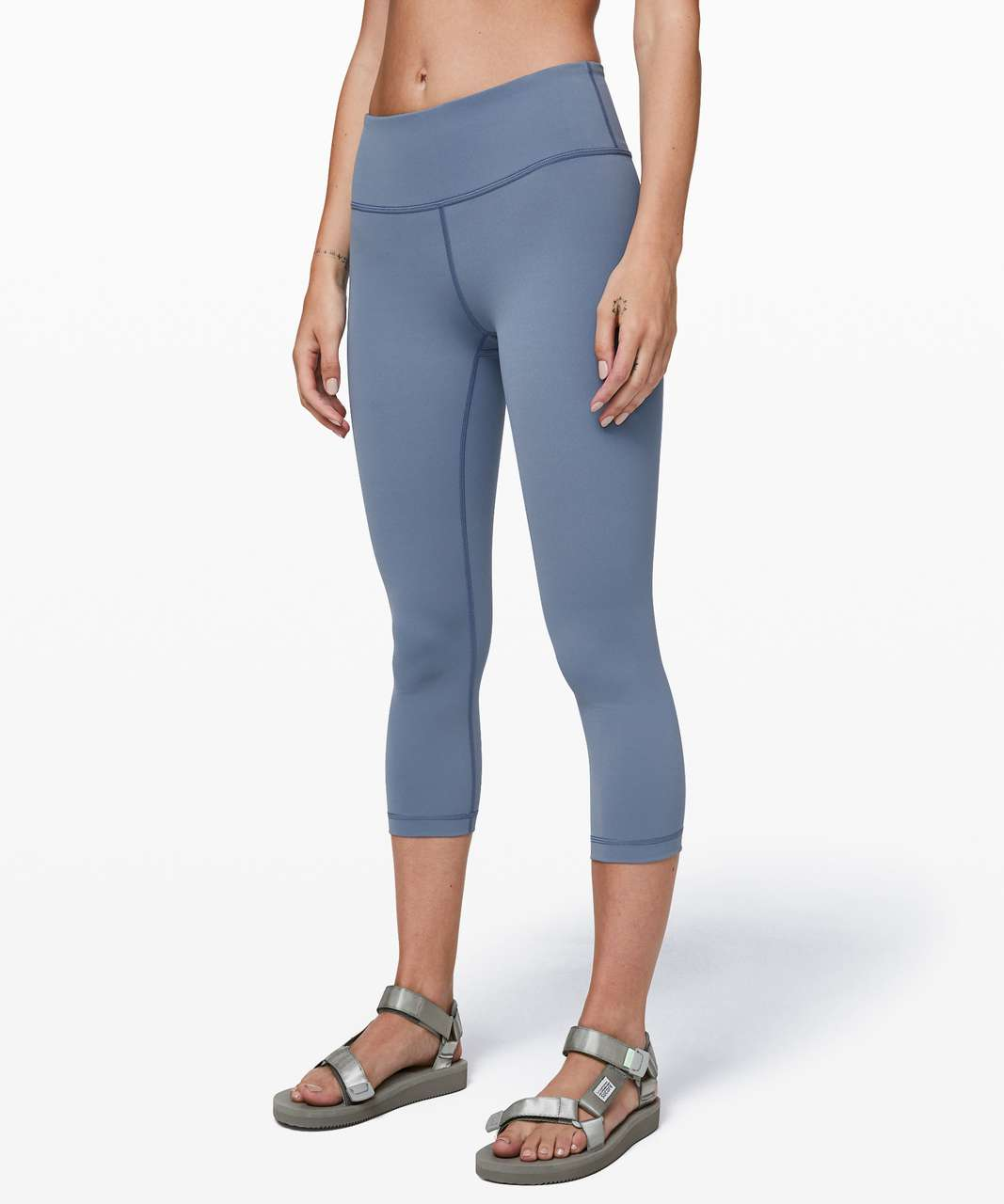 "Lululemon Wunder Under Crop *Mid-Rise Full-On Luxtreme 21"" - Oasis Blue"