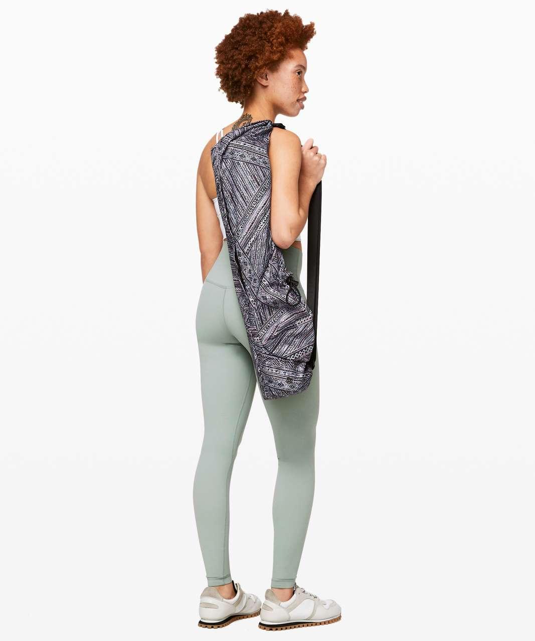 Lululemon The Yoga Mat Bag *16L - Tribal Pace White Black