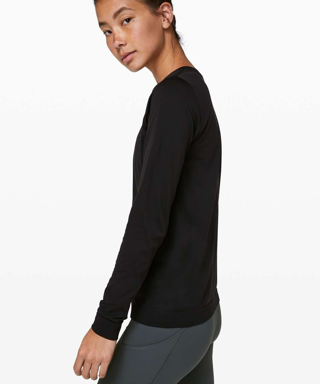 Lululemon Swiftly Tech Long Sleeve (Breeze) *Relaxed Fit - Black / Black