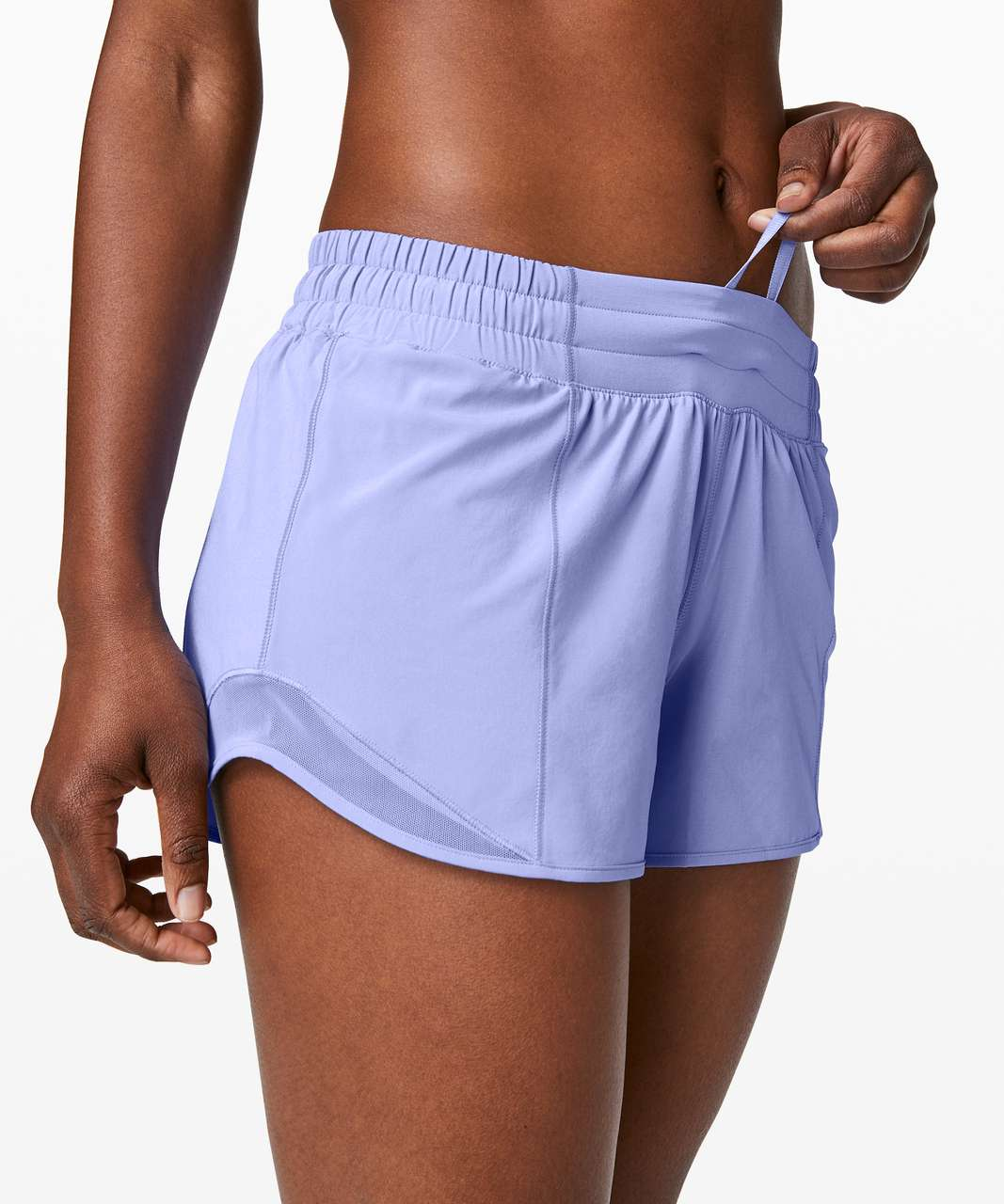 "Lululemon Hotty Hot Short II *Long 4"" - Hydrangea Blue"