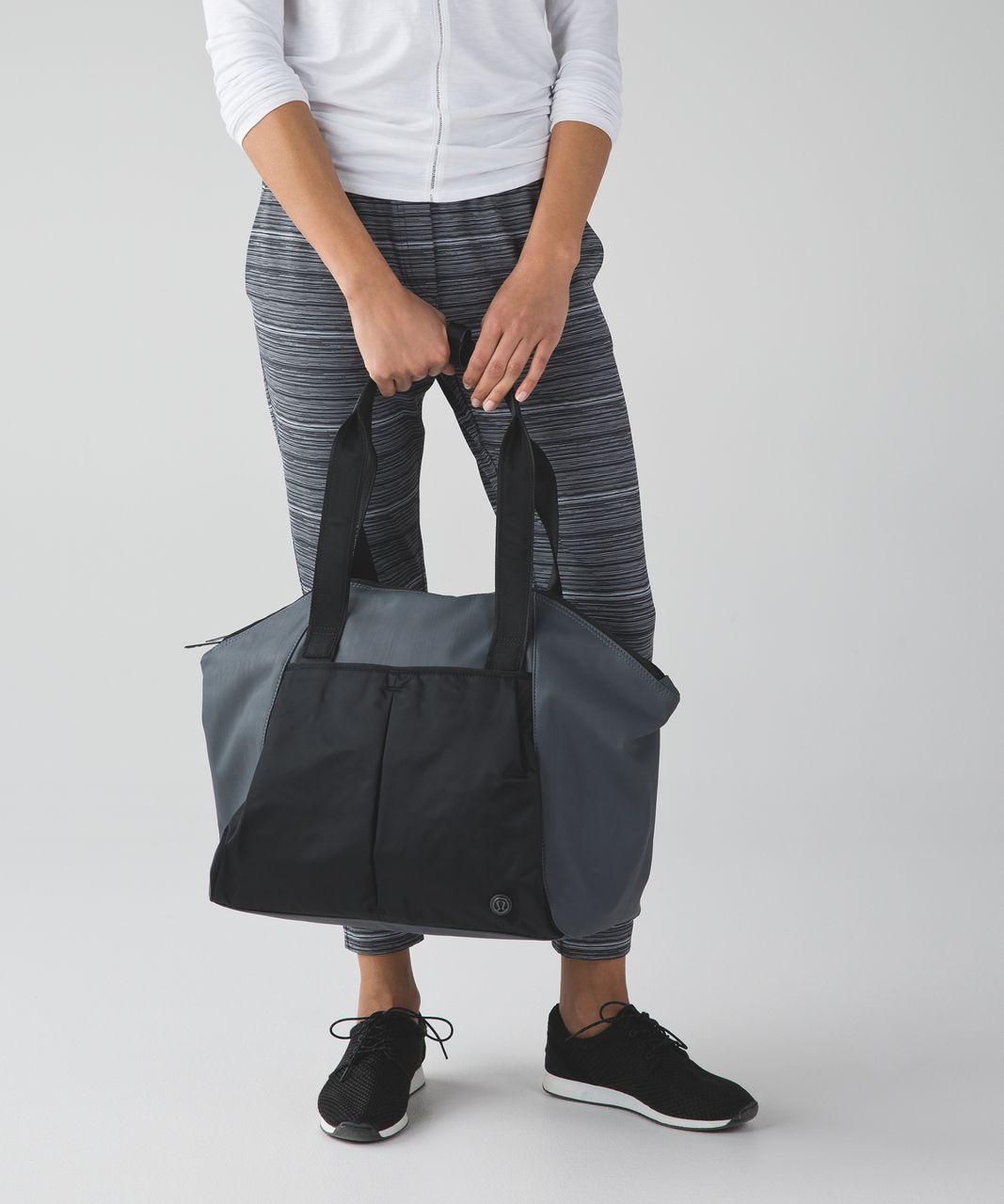 Lululemon Free To Be Bag - Black / Dark Slate