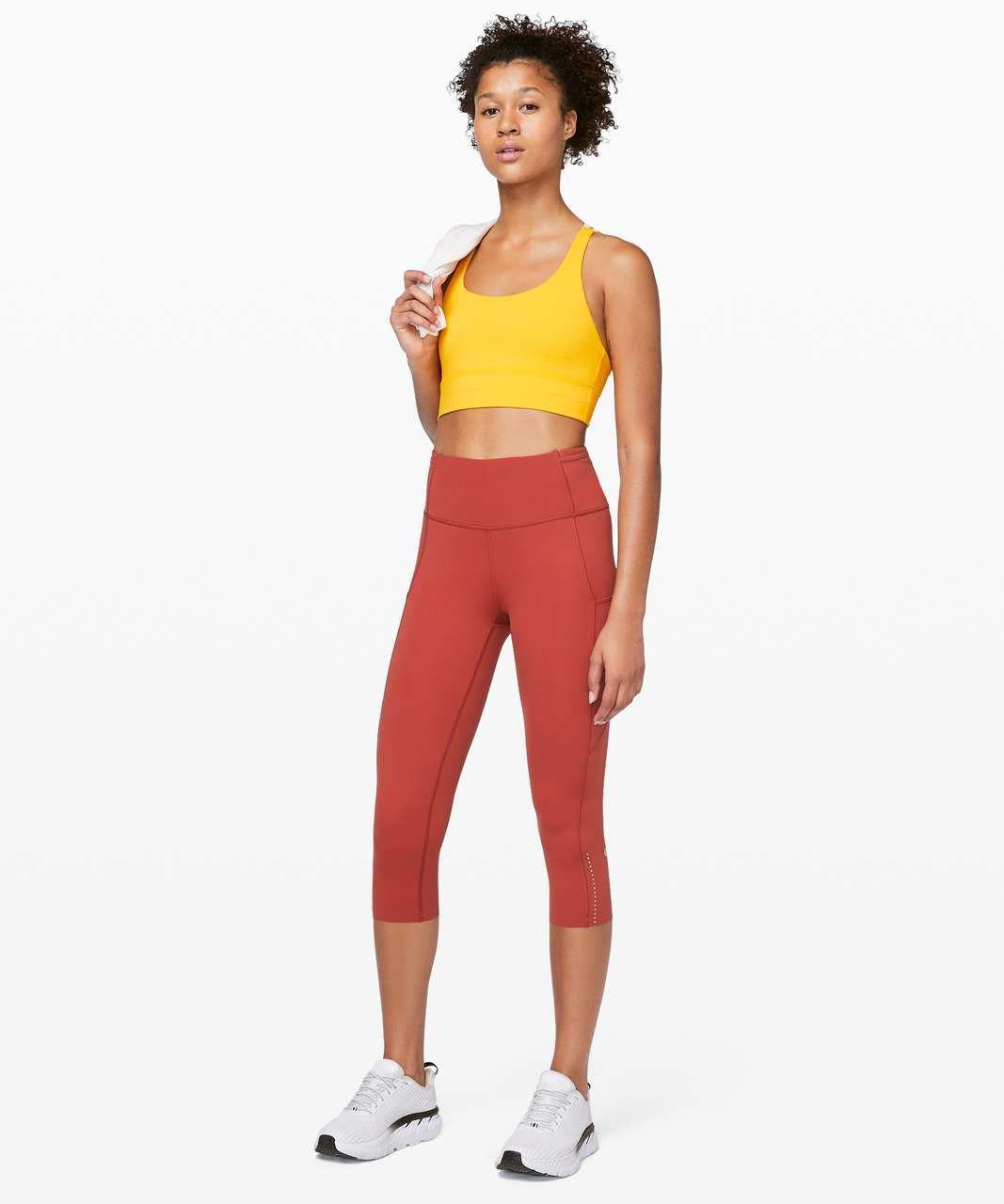 """Lululemon Fast and Free Crop II 19"""" *Nulux - Cayenne"""