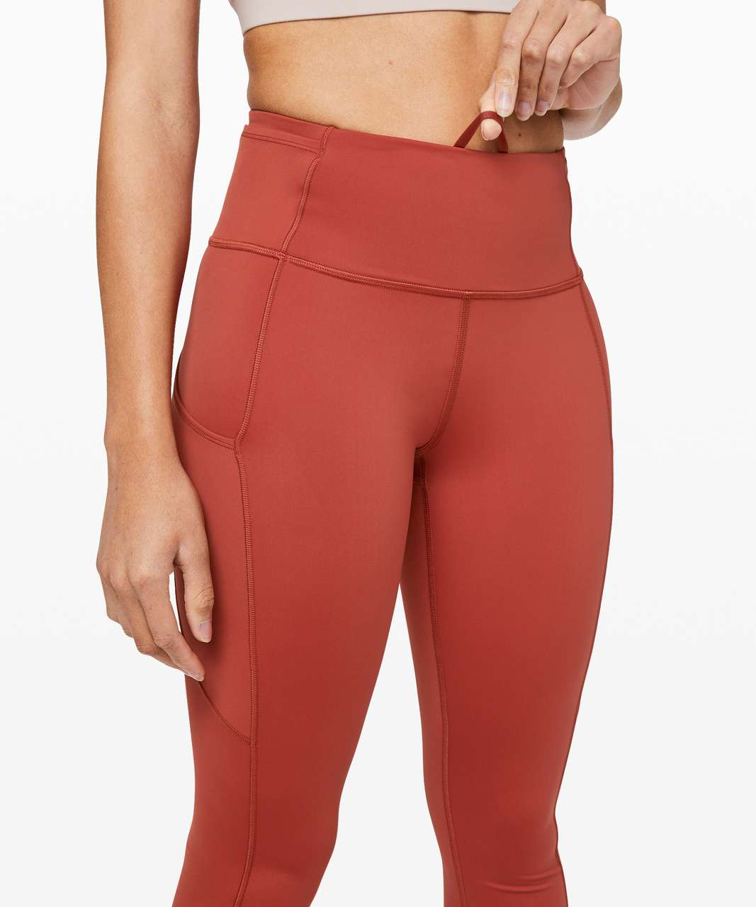 """Lululemon Fast and Free Tight II 25"""" *Non-Reflective Nulux - Cayenne"""