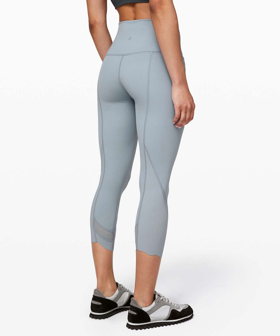 "Lululemon Wunder Under Crop II *Roll Down Scallop Full-On Luxtreme 24"" - Chambray"