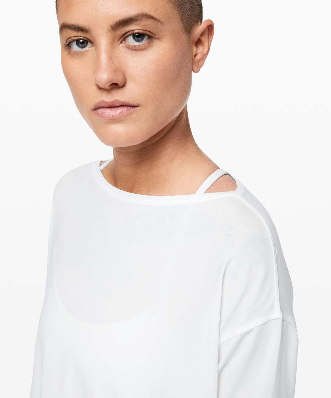 Lululemon Back In Action Long Sleeve - White