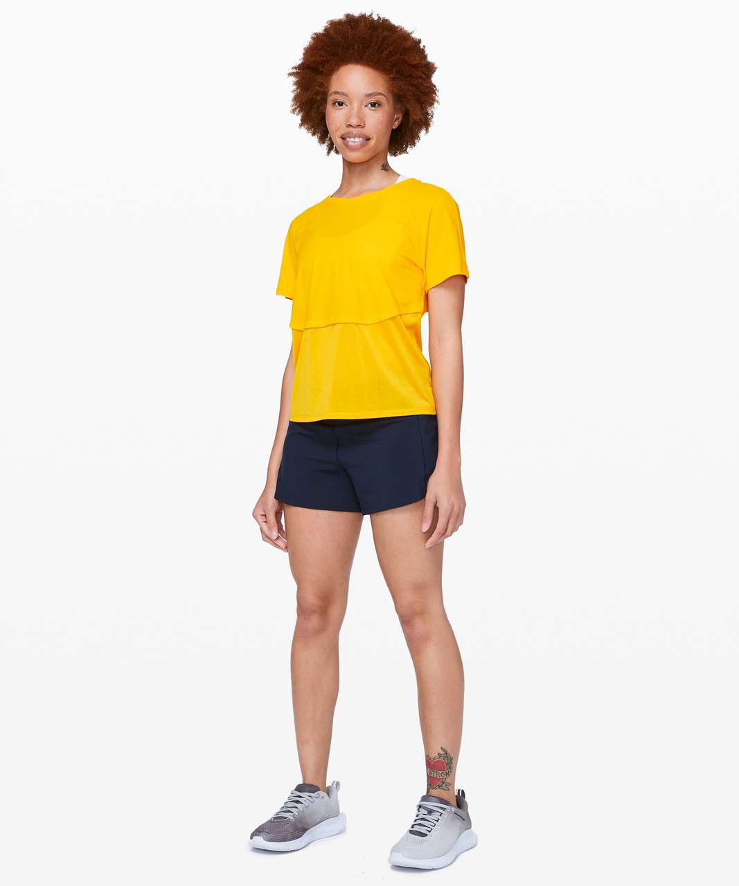 "Lululemon Speed Up Short Long *4"" Updated Fit - True Navy"
