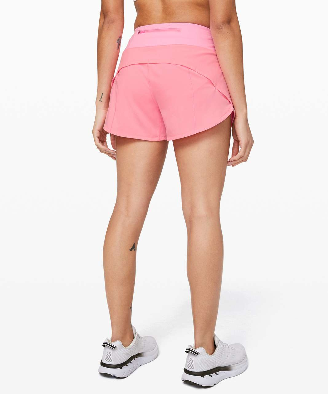 """Lululemon Speed Up Short Long *4"""" Updated Fit - Pink Shell"""