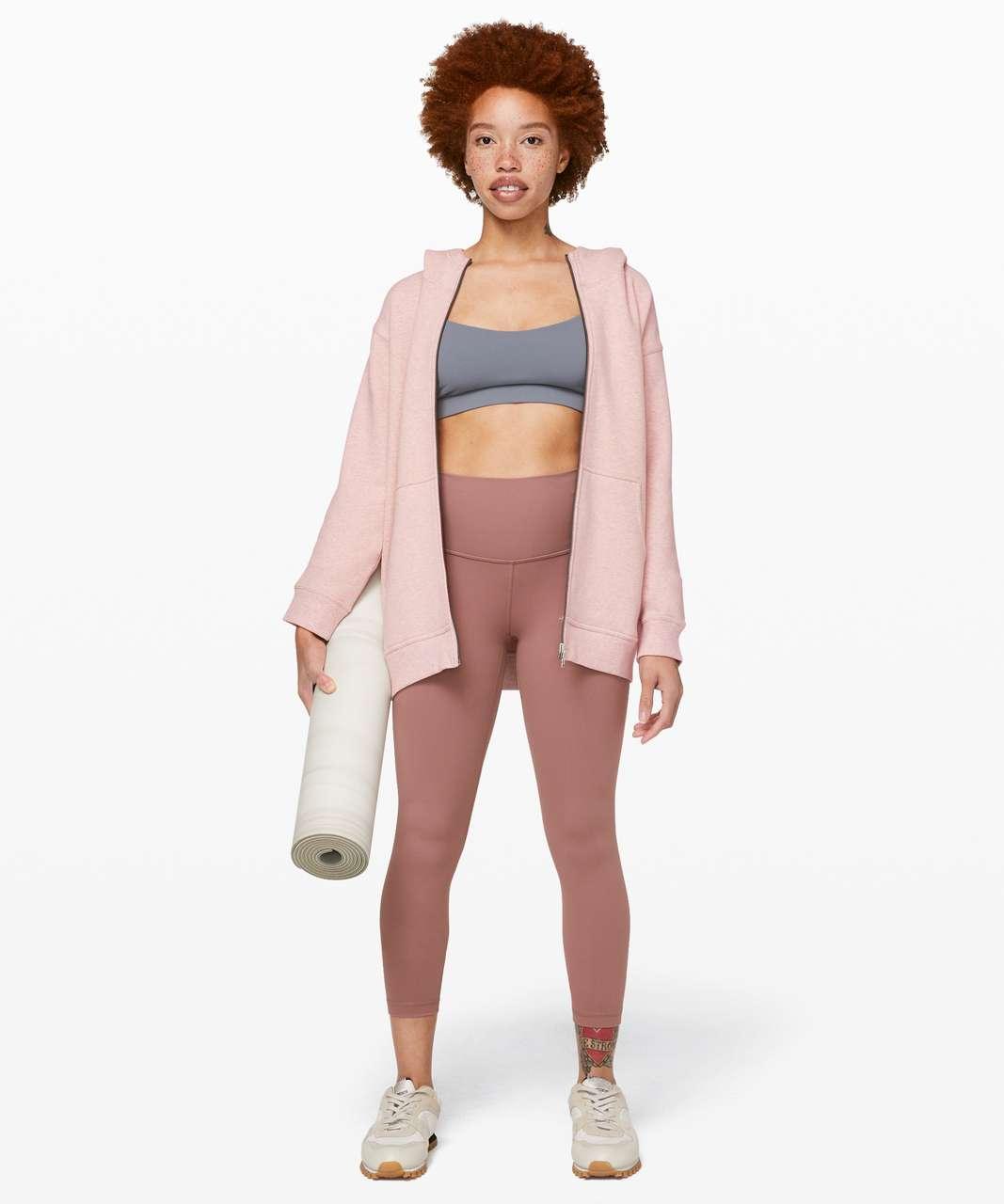 Lululemon All Yours Zip Hoodie - Heathered Mink Berry / Mink Berry